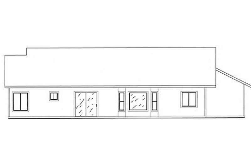 Traditional Exterior - Rear Elevation Plan #437-14 - Houseplans.com