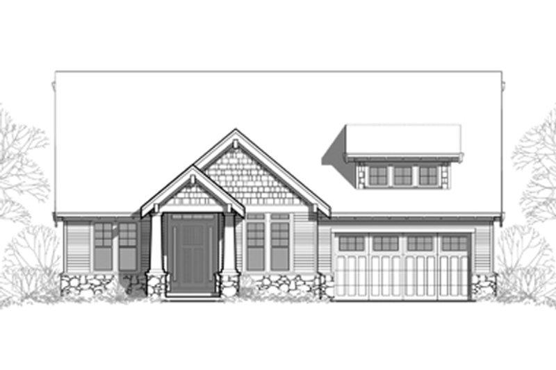 Craftsman Exterior - Front Elevation Plan #48-461 - Houseplans.com