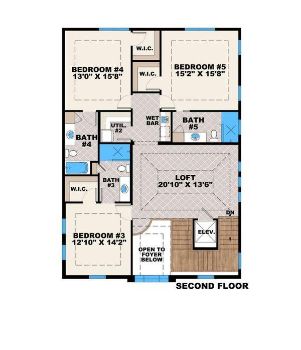 Traditional Floor Plan - Upper Floor Plan Plan #27-555
