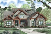 Craftsman Style House Plan - 4 Beds 3 Baths 3600 Sq/Ft Plan #17-2516 Exterior - Front Elevation