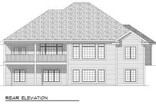 European Exterior - Rear Elevation Plan #70-804