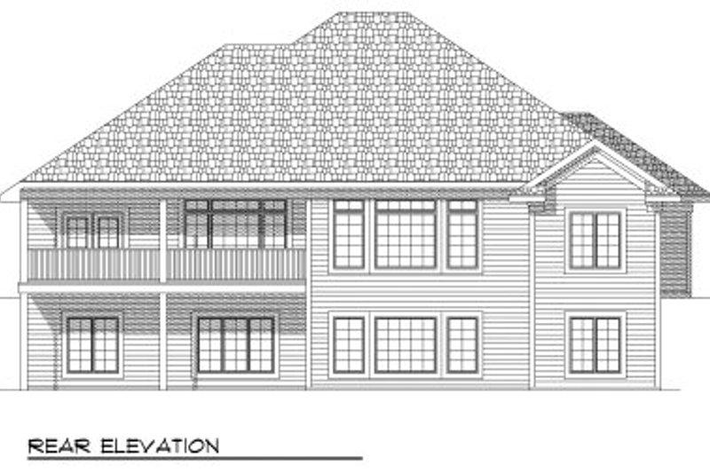 European Exterior - Rear Elevation Plan #70-804 - Houseplans.com