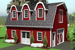 Country Exterior - Front Elevation Plan #75-215