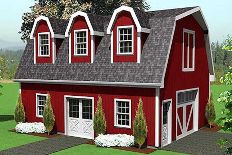 Country Style House Plan - 0 Beds 0 Baths 1290 Sq/Ft Plan #75-215 Exterior - Front Elevation