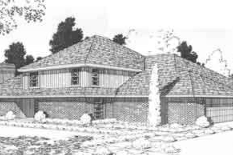 Traditional Style House Plan - 3 Beds 2 Baths 3164 Sq/Ft Plan #310-456 Exterior - Front Elevation