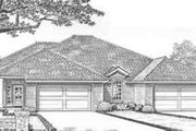Traditional Style House Plan - 2 Beds 2 Baths 2792 Sq/Ft Plan #310-448 Exterior - Front Elevation