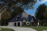 Craftsman Style House Plan - 4 Beds 3.5 Baths 2537 Sq/Ft Plan #923-172 Exterior - Other Elevation