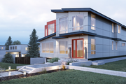Contemporary Style House Plan - 4 Beds 4.5 Baths 4090 Sq/Ft Plan #1066-35 Exterior - Front Elevation