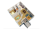 Country Style House Plan - 2 Beds 1 Baths 984 Sq/Ft Plan #25-4647 Floor Plan - Main Floor Plan