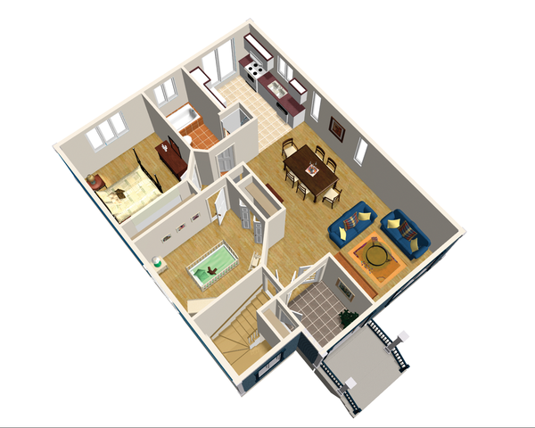 Country Floor Plan - Main Floor Plan Plan #25-4647