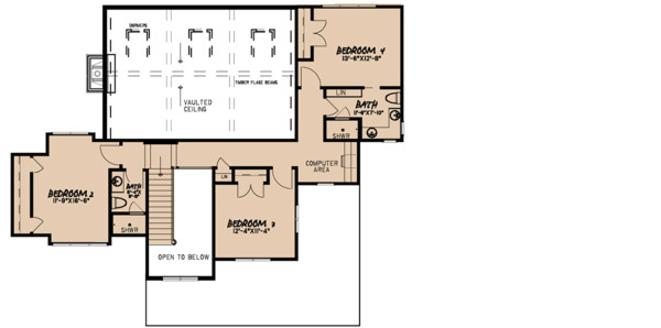 Farmhouse Floor Plan - Upper Floor Plan Plan #923-117