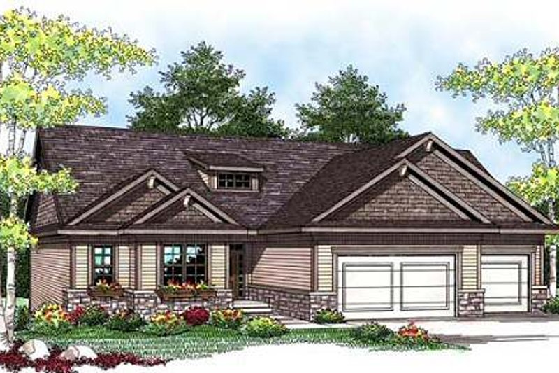 Ranch Exterior - Front Elevation Plan #70-911