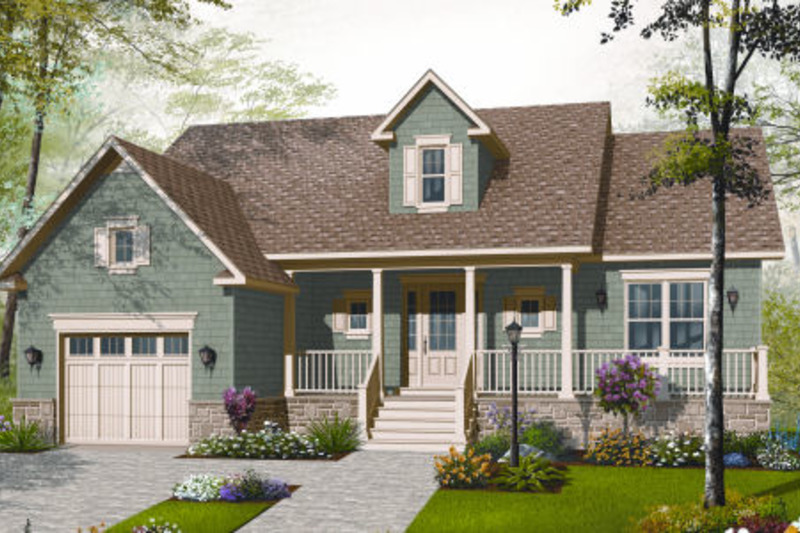 Cottage Exterior - Front Elevation Plan #23-2282