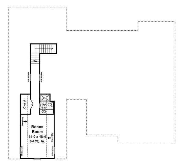Craftsman Floor Plan - Upper Floor Plan Plan #21-341