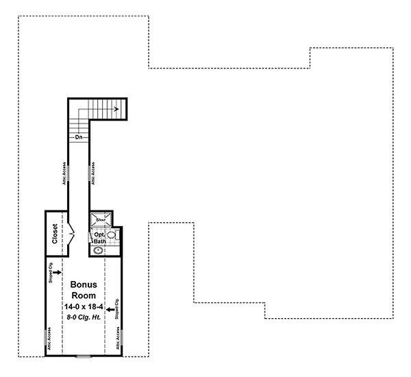 Craftsman Floor Plan - Upper Floor Plan Plan #21-341