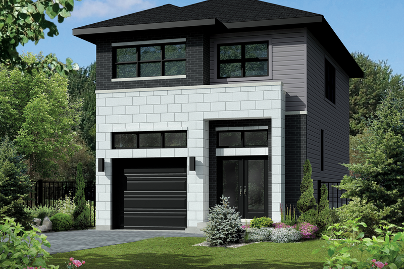 Contemporary Style House Plan - 3 Beds 1 Baths 1570 Sq/Ft Plan #25-4424 Exterior - Front Elevation