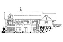 Country Exterior - Rear Elevation Plan #942-57
