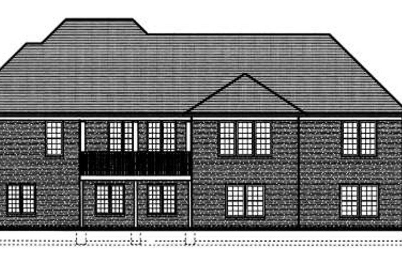 Traditional Exterior - Rear Elevation Plan #46-405 - Houseplans.com
