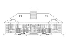 Country Exterior - Rear Elevation Plan #57-572