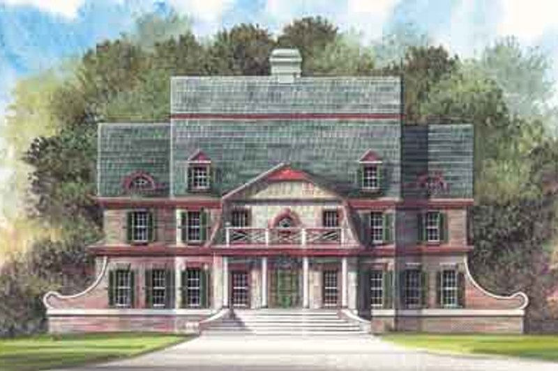 European Style House Plan - 4 Beds 3.5 Baths 3054 Sq/Ft Plan #119-157 Exterior - Front Elevation