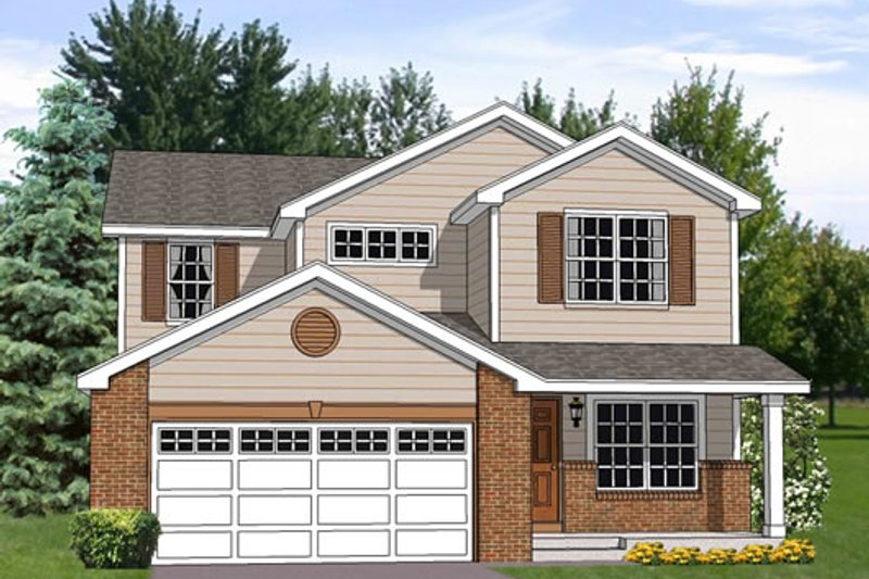 Traditional Style House Plan - 4 Beds 2.5 Baths 2242 Sq/Ft Plan #116-253 Exterior - Front Elevation
