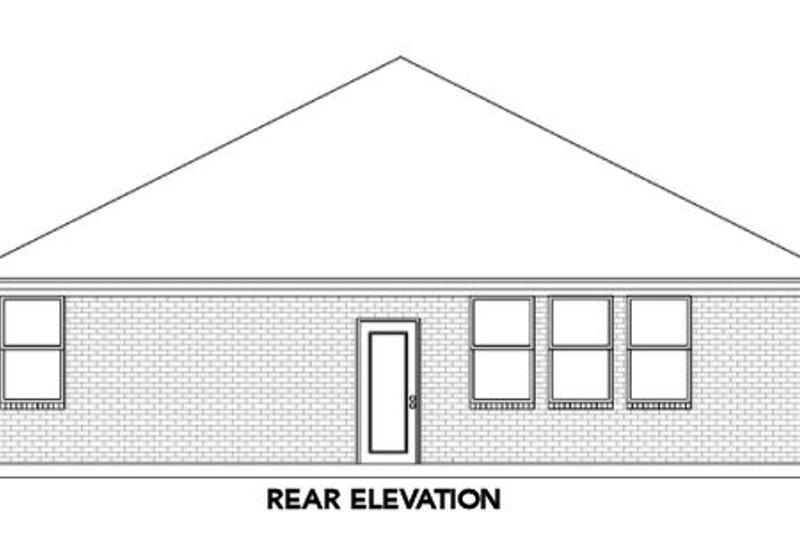 Traditional Exterior - Rear Elevation Plan #84-471 - Houseplans.com