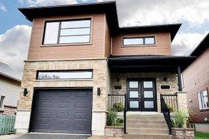 House Blueprint - Contemporary Exterior - Front Elevation Plan #23-2708