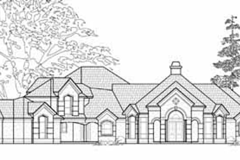 Traditional Exterior - Front Elevation Plan #61-166 - Houseplans.com