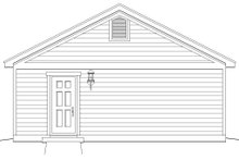 Country Exterior - Rear Elevation Plan #932-116