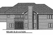 Traditional Style House Plan - 2 Beds 2 Baths 1710 Sq/Ft Plan #70-177 Exterior - Rear Elevation