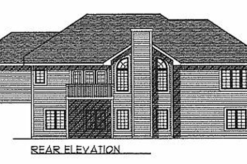 Traditional Exterior - Rear Elevation Plan #70-177 - Houseplans.com