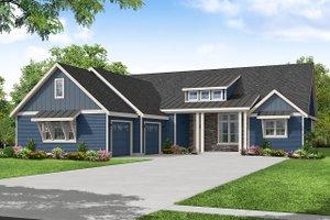 Craftsman Exterior - Front Elevation Plan #124-1243