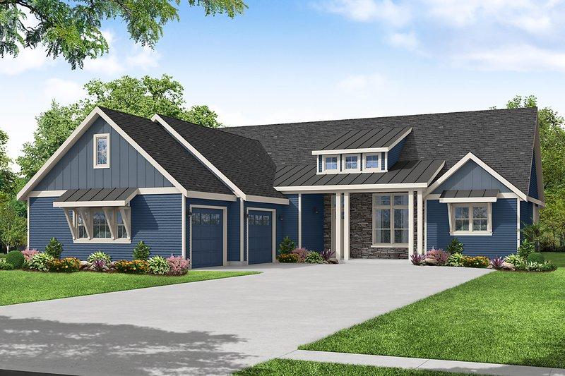 Home Plan - Craftsman Exterior - Front Elevation Plan #124-1243