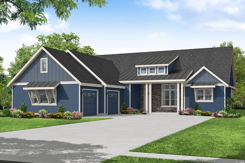 Dream House Plan - Craftsman Exterior - Front Elevation Plan #124-1243