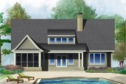 Cottage Style House Plan - 4 Beds 4 Baths 2769 Sq/Ft Plan #929-23 Exterior - Rear Elevation