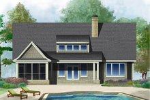 Cottage Exterior - Rear Elevation Plan #929-23