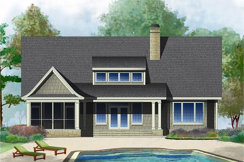 Cottage Exterior - Rear Elevation Plan #929-23 - Houseplans.com