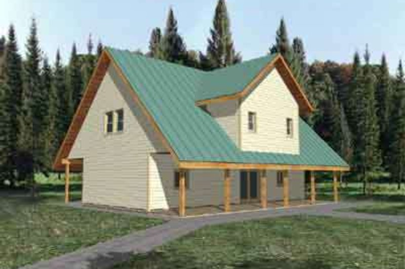 Traditional Exterior - Front Elevation Plan #117-280 - Houseplans.com