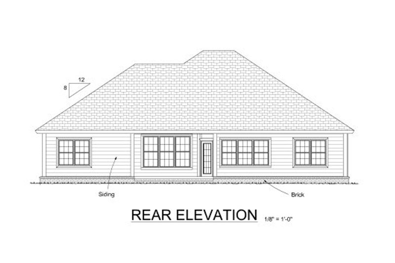 Country Exterior - Rear Elevation Plan #513-16 - Houseplans.com