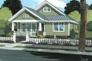 Craftsman Style House Plan - 3 Beds 2 Baths 1260 Sq/Ft Plan #20-1879