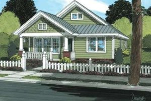 Craftsman Exterior - Front Elevation Plan #20-1879