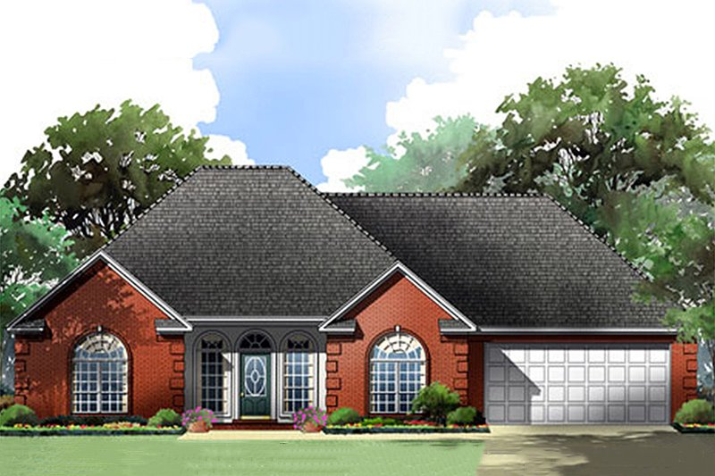 European Exterior - Front Elevation Plan #21-356
