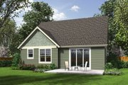 Craftsman Style House Plan - 3 Beds 2.5 Baths 1986 Sq/Ft Plan #48-643 Exterior - Rear Elevation