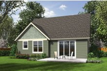 Home Plan - Craftsman Exterior - Rear Elevation Plan #48-643