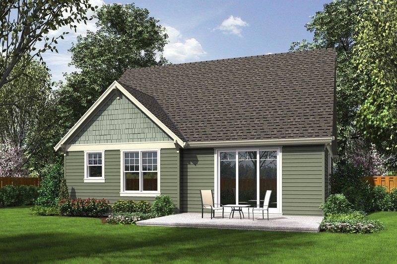 Craftsman Exterior - Rear Elevation Plan #48-643 - Houseplans.com