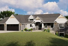 Architectural House Design - Craftsman Exterior - Front Elevation Plan #1064-71