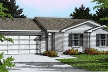 Ranch Exterior - Front Elevation Plan #92-106