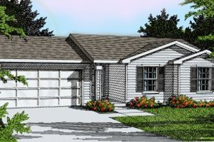 Architectural House Design - Ranch Exterior - Front Elevation Plan #92-106
