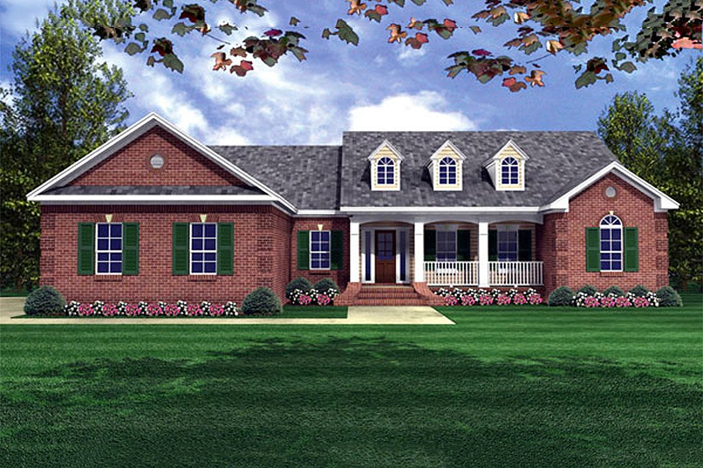 Country Style House Plan 4 Beds 2 5 Baths 2000 Sq Ft
