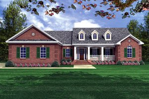 Country Exterior - Front Elevation Plan #21-145